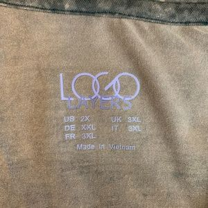 LOGO by Lori Goldstein Tops - LOGO by Lori Goldstein Distressed Print Cardigan